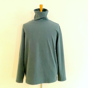 Warm Stretch Turtleneck Cut & Sewn Green