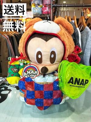 おむつケーキ/オムツケーキ/ANAP/アナップ/出産祝い/誕生祝い/お祝い/ディズニー/ミッキー/おむつベビーカー/おむつバイク
