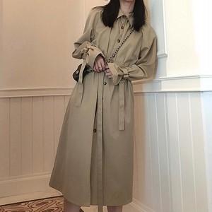 【ワンピース】新作ファッション人気韓国風気質満点シャツワンピース