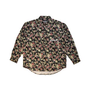 FLOWER CANVAS L/S SHIRT (JAPAN MADE) / BLACK