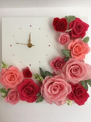 花時計 角形Lサイズ ピンク系