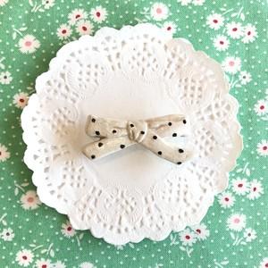 Sweet Drop petit ribbon ブローチ / WH