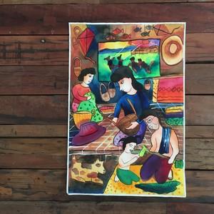 子供の絵 Thai Handcraft Family
