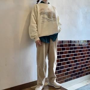 Corduroy pants beige