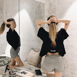 【即日発送】バックオープンロゴ オーバーサイズTシャツ 4色 tk2039