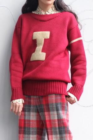vintage/capital letter knit sweater.