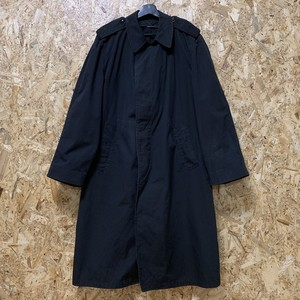 1982's アメリカ海軍 U.S.Navy Balmacaan Coat Coat All Weather,Men's, Black W/Removable Liner 【19111601】
