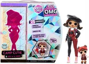 送料無料  L.O.L. Surprise! O.M.G. Winter Chill Camp Cutie Fashion Doll & Babe in The Woods Doll with 25 Surprises