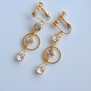 three  pierced/earrigs