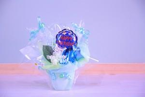 お誕生日用卓上バルーンギフト(バルーンアレンジ) 送料込み 引き取りの場合2,000円