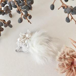 NEW《プチサイズ》ハリネズミファー刺繍ブローチ<A>