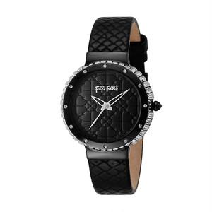フォリフォリ FOLLI FOLLIE 腕時計 レディース WF13E012SPK-BK クォーツ ブラック