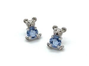Teddy ー silver x facet blue ー