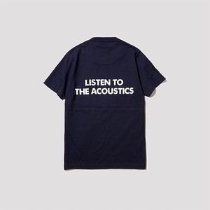 """LISTEN TO THE ACOUSTICS"" T-Shirts [navy]"