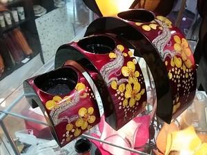 [SALE! 50%OFF]ベトナム雑貨PhiPhi・ベトナム漆キャンドルホルダーセットE