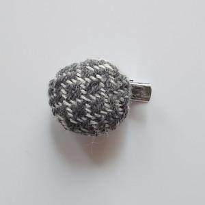手織り布のストールピン グレー 送料込み