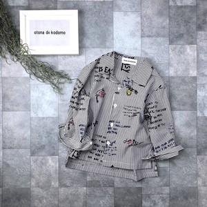 プリントオープンカラーシャツno.1809031   #子供服 #子ども服 #男の子 #女の子 #シャツ