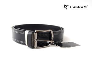 ポッシュム|POSSUM|ダブルステッチカジュアルベルト|95/36|ブラック