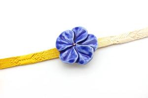 帯留  花