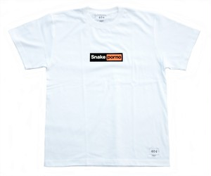SNAKE PORNO HUBLOGO TEE WHITE スネークポルノ Tシャツ