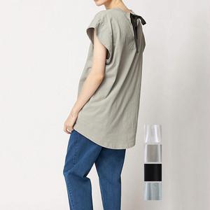 FLORENT(フローレント) Back Ribbon French Sleeve T-shirt 2021春夏物新作 [送料無料]