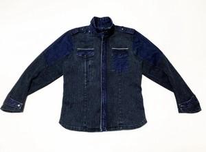 20SS インディゴ刺し子ミリタリーシャツジャケット / Indigo sashiko military shirts jacket