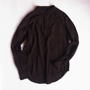 devadurga デヴァドゥルガ MUD BLACK PULLOVER SHIRT