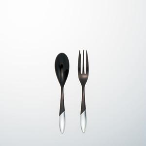 KOKU 木曽漆器のカトラリー:麗(れい)2本セット 黒