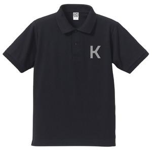 K ポロシャツ(ネイビー×グレー)