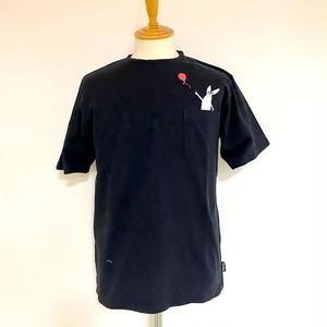 Balloon Shabby Pocket T-shirts Black