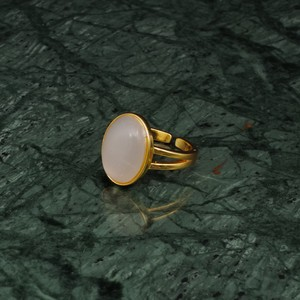 OVAL BIG STONE RING GOLD 007