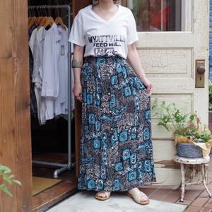 Rayon Flower Pattern Skirt / 花柄 レーヨン スカート