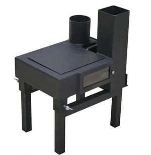 ◆野外薪ストーブ ロケッター( ROCKETER)   ロケッターSD75( ROCKETER-SD75)煙突・バッグ付きセット