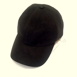 Fake Suede Cap Black