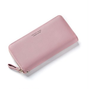 Wallet Long Style Multi Wallet Purse PU Leather Clutch Card Holder Purse ロング レザー 財布 パスケース 多機能 マルチファンクション ウォレット (HF99-7055623)
