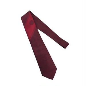MARTINE ROSE ACCESSORIES TIE BURGUNDY