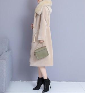 Tassels volume fur hood coat