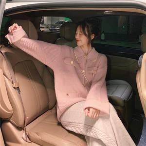2020AW ニットジャケット+編み模様ワイドパンツ