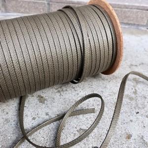 極上の艶 靴紐 (カーキ) 平紐 6mm