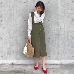 <予約販売>KU-UM×yuko,natsu,junko 3wayジャンパースカート  カーキ