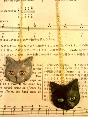 clarte / Star eyes cat necklace