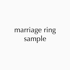 marriage ring sample