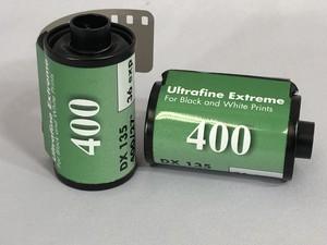 ウルトラファインEX 白黒フィルム ISO400 35mm x 36枚
