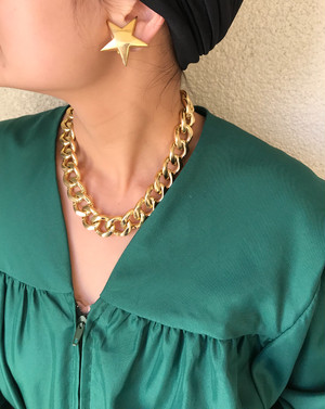 Vintage gold chain Necklace ( ヴィンテージ  ゴールド チェーン ネックレス )