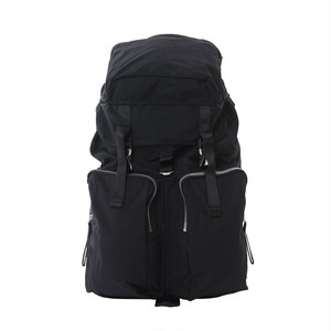 Cordura Double Pocket Backpack Black LO-STN-BP05