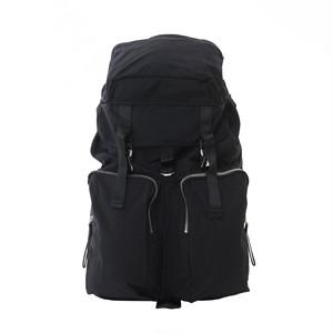 Cordura Double Pocket Backpack Black LO-STN-BP05