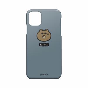 iPhone11ケース(わや顔ブルーグレイ)