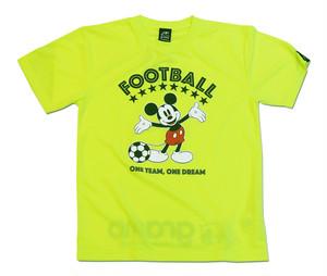 Mickey Mouse×gramo コラボ プラシャツ「ONE TEAM」(蛍光イエロー/P-048) ※XS~Lサイズ