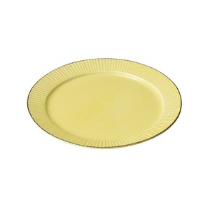 「ティント Tint」プレート 皿 L 約24cm イエロー 美濃焼 289003