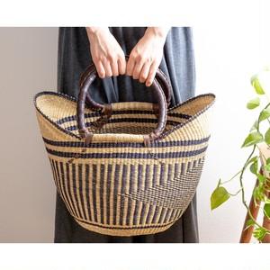 African Farmer's Market Basket <Striped>